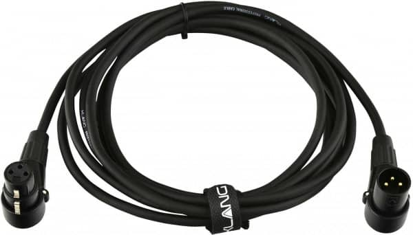 Patchkabel XLR male 90°/XLR female 90° 3,00 Meter