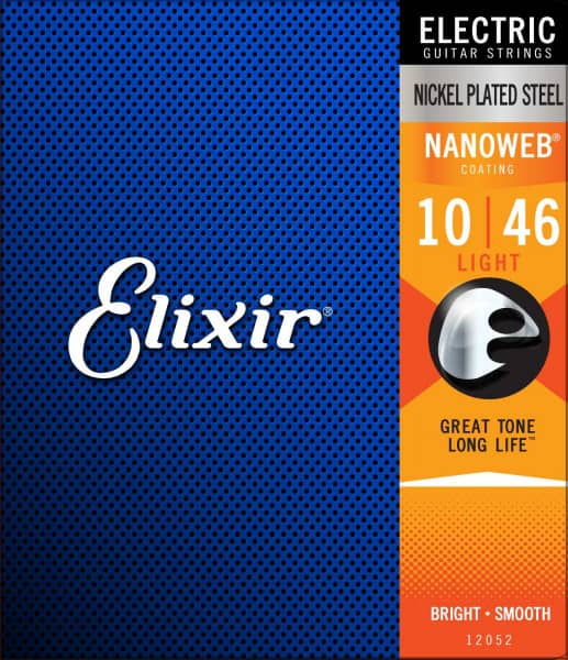 Elixir 12052 Nanoweg Light E-Gitarrensaiten front