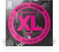 EXL170-5TP - XL 5-String Bass Nickel Wound, Long Scale 45-130, 2er Pack