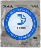 PL009 Plain Steel Guitar Single String, .009