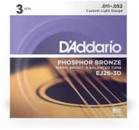 EJ26-10P Acoustic Phosphor Bronze 11-52, 10er Pack