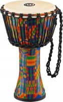 """8"""" Rope Tuned Travel Series Djembes, Goat Skin Head (Patented), Kenyan Quilt"""
