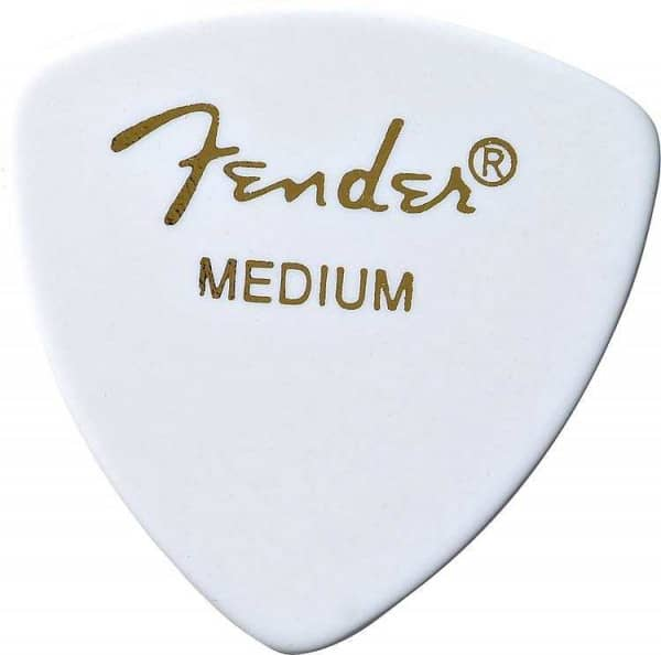 346 Shape Classic Celluloid Pick - Medium - White
