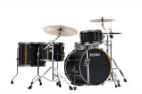 ML40HZBN2-FBV Superstar Hyperdrive Duo - Shellset - Flat Black Vertical Stripes   - SHOWROOMMODELL -