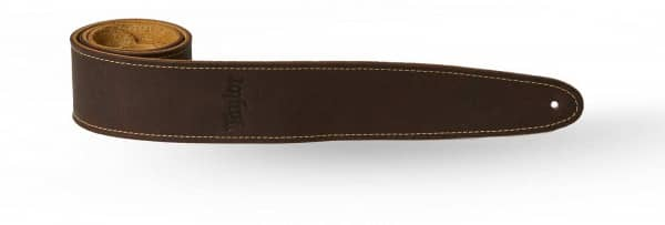 Strap Chocolate Brown Leather Suede Back