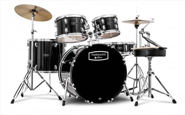 Tornado TND5844FTC - Drumset - Black   - SHOWROOM MODELL -