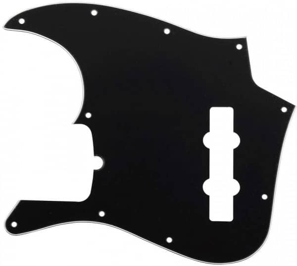 Pickguard American Standard Jazz Bass 3-Ply Black