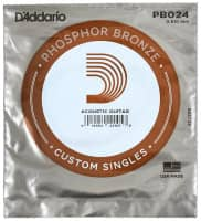PB024 Phosphor Bronze Wound Acoustic Guitar Single String, .024