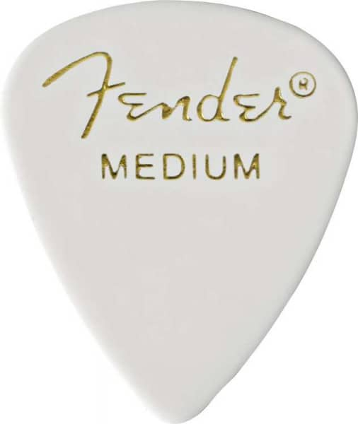 351 Shape Classic Celluloid Pick - Medium - White