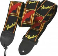 Gitarrengurt Monogrammed Black Yellow Red