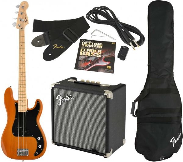 Affinity Serie Precision Bass MN BB mit Fender Rumble 15 Amp