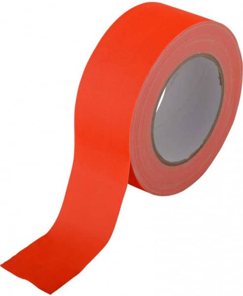 Gewebe-Klebeband 50 mm x 25 Meter Neon Orange