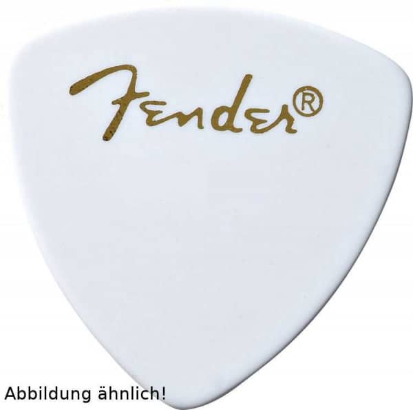 346 Shape Classic Celluloid Pick - Thin - White