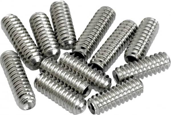 Bridge Height Screws Strat Nickel 12 Stück