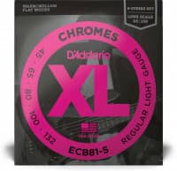 ECB81-5 - XL 5-String Bass Chromes, Long Scale 45-132
