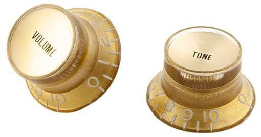 Top Hat Style Knobs Gold - Gold