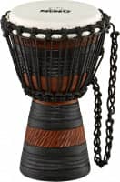 """Original African Style Rope Tuned Wood Djembes, 7"""", Earth Rhythm Series, X-Small"""
