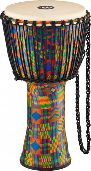 """12"""" Rope Tuned Travel Series Djembes, Goat Skin Head (Patented), Kenyan Quilt"""