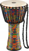 """10"""" Rope Tuned Travel Series Djembes, Goat Skin Head (Patented), Kenyan Quilt"""