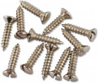 Pickguard Screws Nickel - 12 Pack