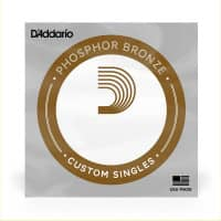 PB026 Phosphor Bronze Wound Acoustic Guitar Single String, .026