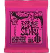 2623 7-String Super Slinky Nickel Wound .009 - .052 Pink Pack