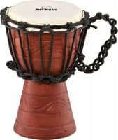 """4 1/2"""" Original African Style Rope Tuned Wood Djembe, Water Rhythm Series, XX-Small"""