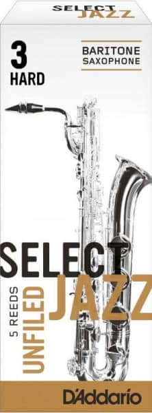Select Jazz Unfiled 3,0 Hard Baritonsaxophon 5er Pack