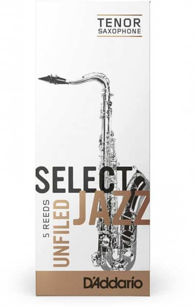 Select Jazz Unfiled - Tenor Saxophone 3S - 5er Pack