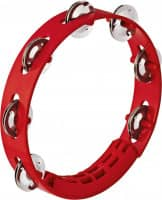 """8"""" ABS Tambourine, 1 Row, Red"""