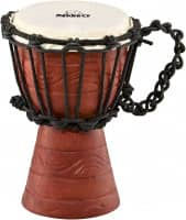 """7"""" Original African Style Rope Tuned Wood Djembe, Water Rhythm Series, X-Small"""