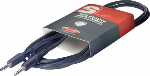 SAC6MPS Stereoklinkenkabel 3,5 mm 6 Meter