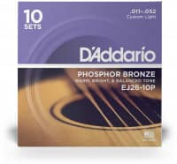 EJ26-3D - Acoustic Phosphor Bronze 11-52, 3er Pack