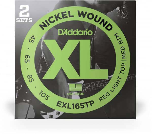 EXL165TP - XL Bass Nickel Wound, Long Scale, 45-105, 2er Pack