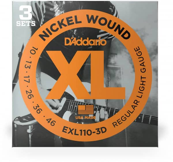 EXL110-3D - XL Electric Nickel Wound 10-46, 3er Pack