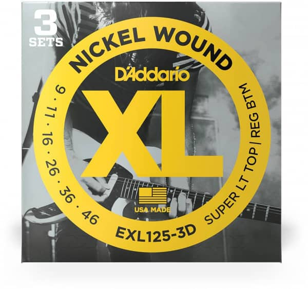 EXL125-3D - XL Electric Nickel Wound 09-46, 3er Pack