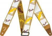 Gitarrengurt Weighless 2 Monogrammed Strap White/Brown/Yellow