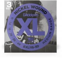 EXL115-3D - XL Electric Nickel Wound 11-49, 3er Pack