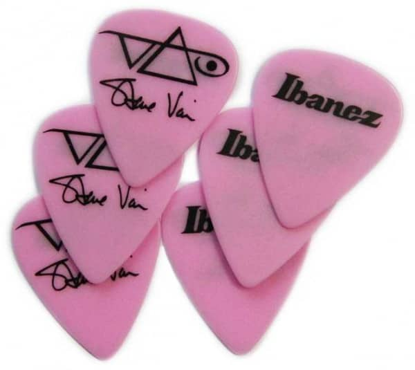 B1000SV-MP Steve Vai Pick Set Mega Pink
