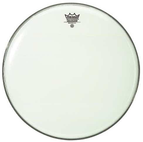 Ambassador - Bass Drum Fell - 20 - Smooth White