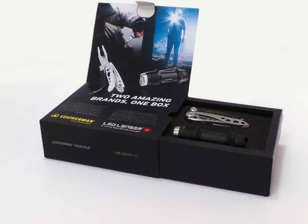 LED LENSER F1  &  LEATHERMAN Freestyle Set