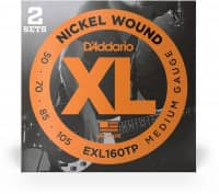 EXL160TP -XL Bass Nickel Wound, Long Scale, 50-105, 2er Pack